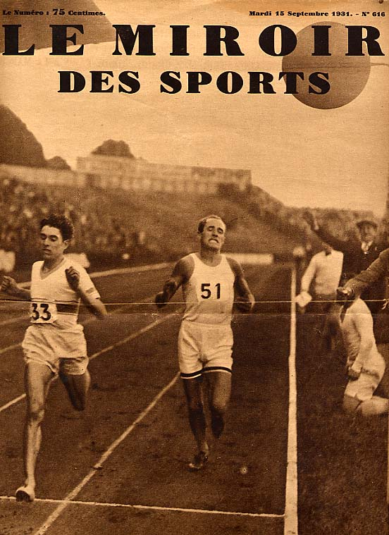 Le miroir des sport article sept 31 by sir hubert opperman for Miroir des sports